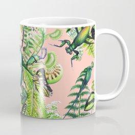 Malachite pattern on coral Coffee Mug