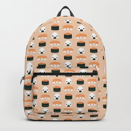 Salmon Dreams in peach, small Backpack