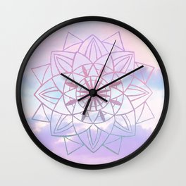 Star Mandala Unicorn Pastel Clouds #1 #decor #art #society6 Wall Clock