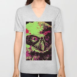 Rainbow Spectacled Owl Unisex V-Neck