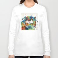 otters Long Sleeve T-shirts featuring Otter Art - Ottertude - By Sharon Cummings by Sharon Cummings
