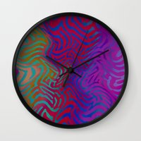 vertigo Wall Clocks featuring Vertigo by RingWaveArt