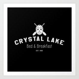 Crystal Lake Bed & Breakfast, Former Camp Crystal, Est.1980, Design for Wall Art, Posters, Tshirts, Men, Women Art Print