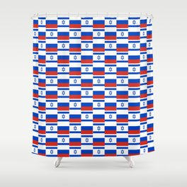 Mix of flag: israel and Russia Shower Curtain
