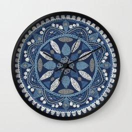 Jaipur Medallion Nantucket Blue Wall Clock