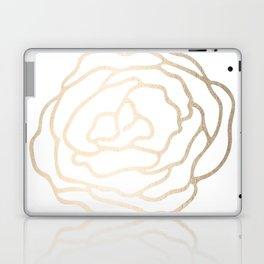 Flower in White Gold Sands Laptop & iPad Skin