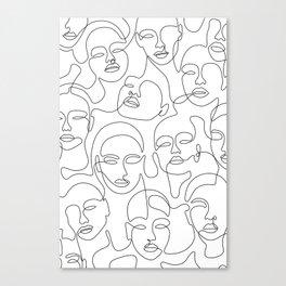 Crowded Girls Canvas Print