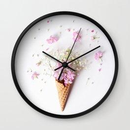 Stock Flower Cone Wall Clock