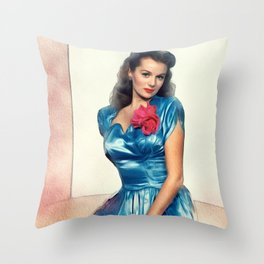 Rhonda Fleming, Actress Throw Pillow