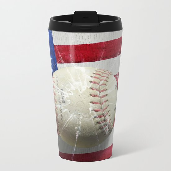 Baseball - New York, New York Metal Travel Mug