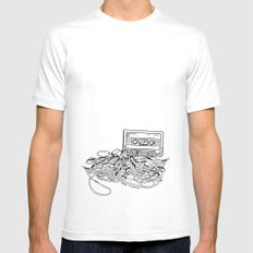 Relax & Unwind on white Mens Fitted Tee MEDIUM White