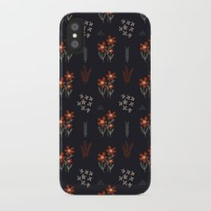 Red Flowers Slim Case iPhone X
