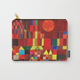 """Paul klee """" Castle and Sun """" Carry-All Pouch"""