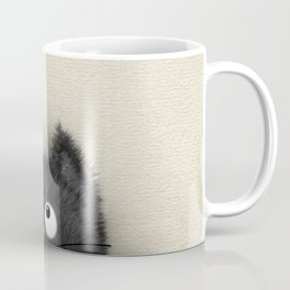 Cute Fluffy Black cat peaking out Coffee Mug