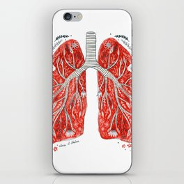 folky lungs iPhone Skin