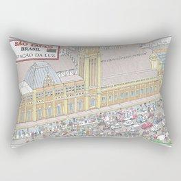 Downtown Sao Paulo, Luz Station, Brazil Rectangular Pillow
