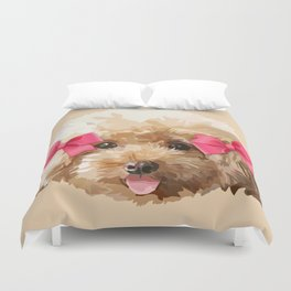 Baby Poodle Duvet Cover