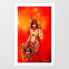 Halloween Mileena, Trick or Treat Sweet Sister. Art Print