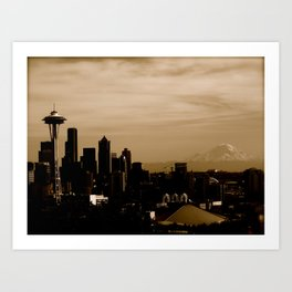 Seattle Skyline Day Art Print