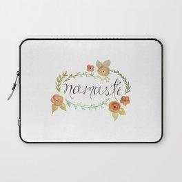 Namaste Floral Watercolor Laptop Sleeve
