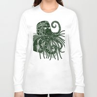 cthulhu Long Sleeve T-shirts featuring Cthulhu by Hinterlund