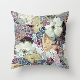 Winter•Blooms Throw Pillow