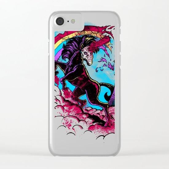 Murdercorn Clear iPhone Case