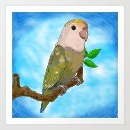 Skittles the Love Bird Art Print