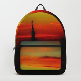 Morning at the Harbour Backpack