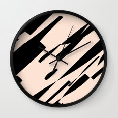 black & pale peach /geometric series Wall Clock