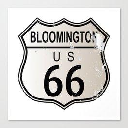 Bloomington Route 66 Canvas Print