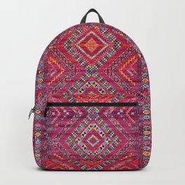 N118 - Pink Colored Oriental Traditional Bohemian Moroccan Artwork. Backpack