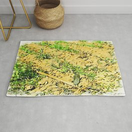 Hortus Conclusus: potatoes and hoe in the vegetable garden Rug