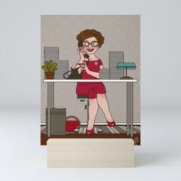 Sixties Secretary on the Telephone Mini Art Print