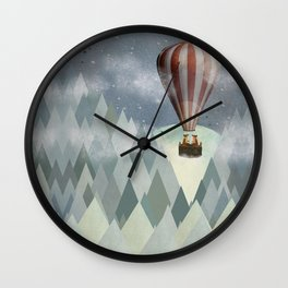 mr and mrs fox great adventure Wall Clock