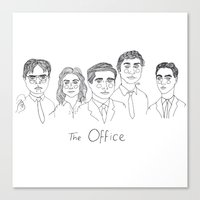 cactei Canvas Prints featuring The Office by ☿ cactei ☿