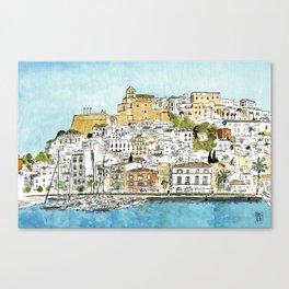 Dalt Vila, Ibiza Canvas Print