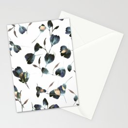 Blue Watercolor Wildflowers Stationery Cards