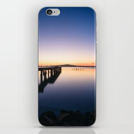 Sunset at Montevideo bay iPhone Skin