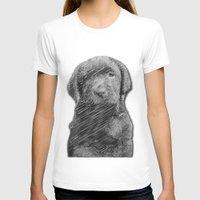 labrador T-shirts featuring labrador puppy by Necla Karahalil