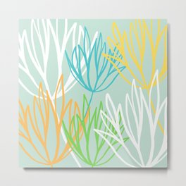 Abstract Flower Bunch Metal Print