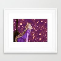 lanterns Framed Art Prints featuring Lanterns by Kimberly Castello