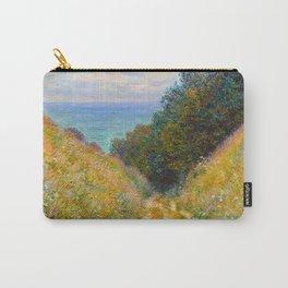Claude Monet Impressionist Landscape Oil Painting Road at La Cavée, Pourville Carry-All Pouch