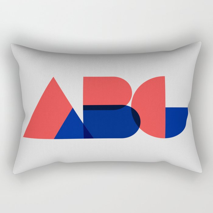Geometric ABC Rectangular Pillow
