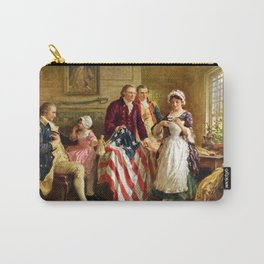 Betsy Ross and General George Washington Carry-All Pouch