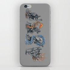earth - fire - water - (bad) air iPhone & iPod Skin