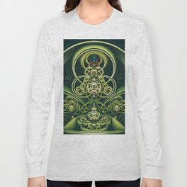 Time Shell IV. Green Abstract Geometry Long Sleeve T-shirt