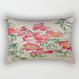 Blind Contour Snapdragon Rectangular Pillow