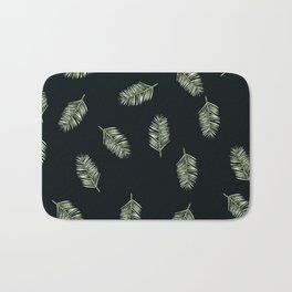 palm areca - black Bath Mat
