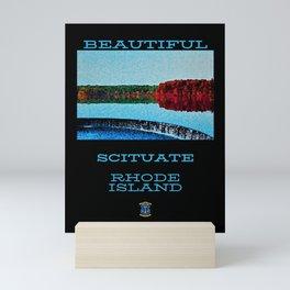 Vintage Scituate, Rhode Island Lithograph Poster Wall Art Mini Art Print